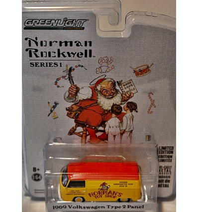 Greenlight - Norman Rockwell - Normans Toy Shop - 1969 Volkswagen Type 2 Panel Van Shop Truck