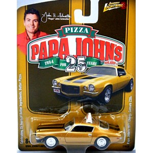 Johnny Lightning Promo - Papa John's Pizza 1971 Chevrolet Camaro Z-28