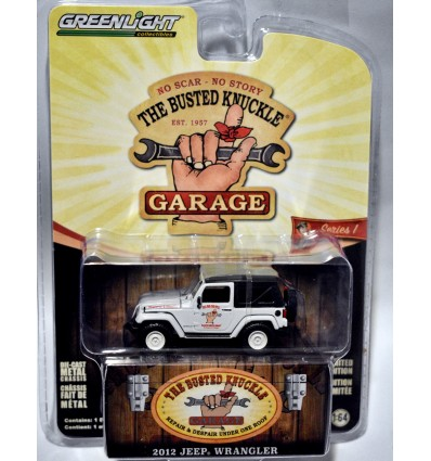Greenlght - Busted Knuckle Garage - 2012 Jeep Wrangler Shop Truck
