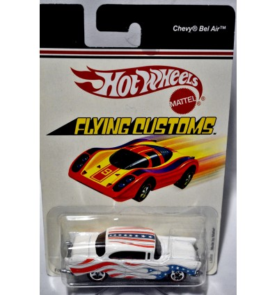 Hot Wheels Flying Customs - Stars & Stripes 1957 Chevy Bel Air
