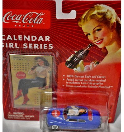 Johnny Lighting Coca-Cola Calendar Girls - 1949 Mercury Lead Sled Custom