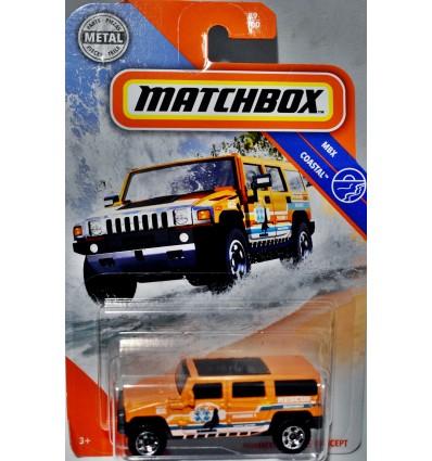 Matchbox Hummer H2 Ocean Rescue Truck