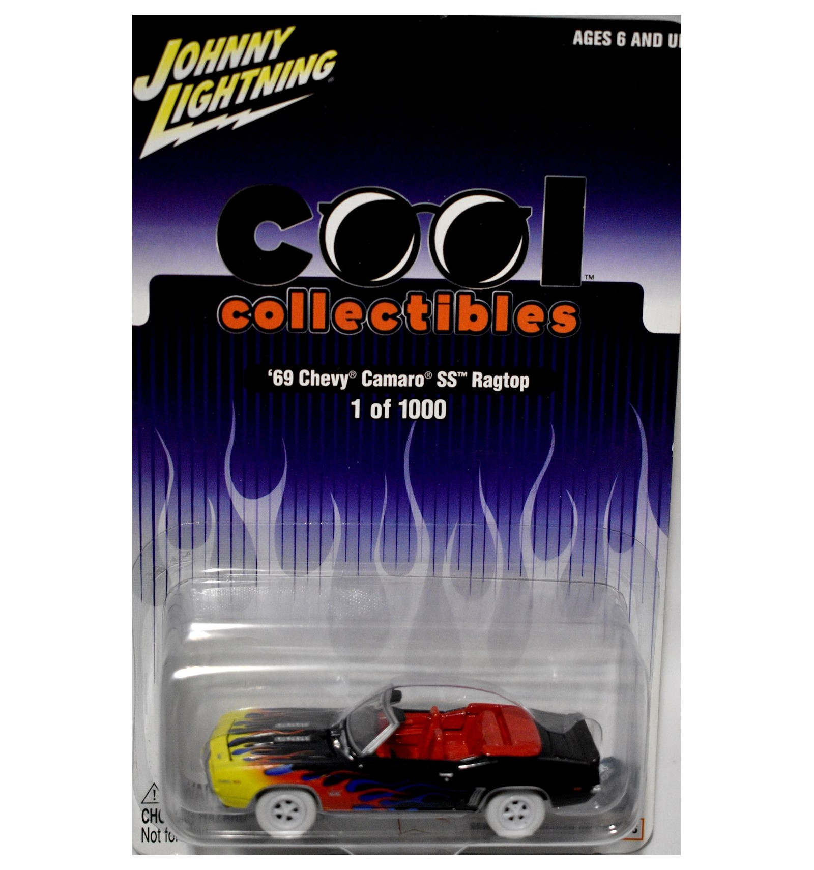 Rare Johnny Lightning Promo White Lightning Cool Collectibles 1969 Chevrolet Camaro Convertible Global Diecast Direct