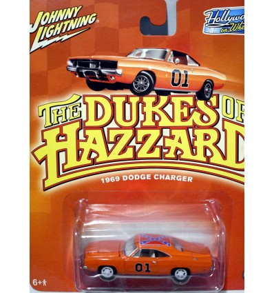 Johnny Lighting Hollywood on Wheels - White Lightning Dukes of Hazard Dodge Charger