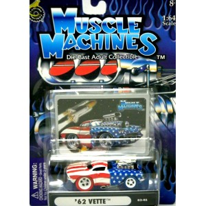 Muscle Machines Stars and Stripes Chase Car - 1962 Chevrolet Corvette