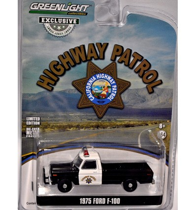 Greenlight Hobby Exclusives - California Highway Patrol Police 1975 Ford F-100 Pickup Truck