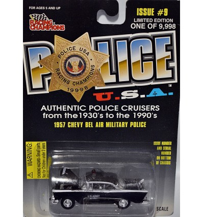 Racing Champions Police - US ARMY Military Police 1957 Chevrolet Bel Air
