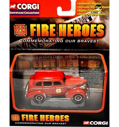 Corgi Memphis Fire Department - 1939 Chevrolet Fire Chief Sedan