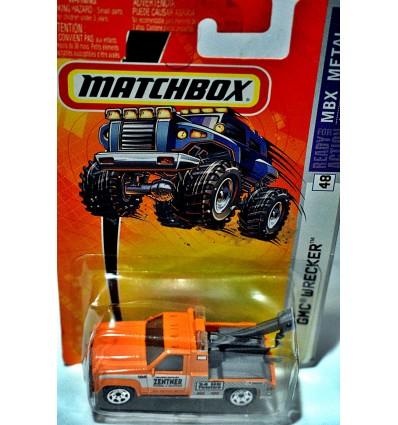 Matchbox GMC Tow Truck - Zentner Towing & Recovery