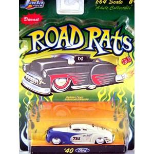 "Jada Road Rats 1940 Ford Coupe ""Salt Shaker"" Lake Racer"