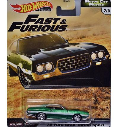 Hot Wheels Premium Fast & Furious 1972 Ford Torino Grand Sport