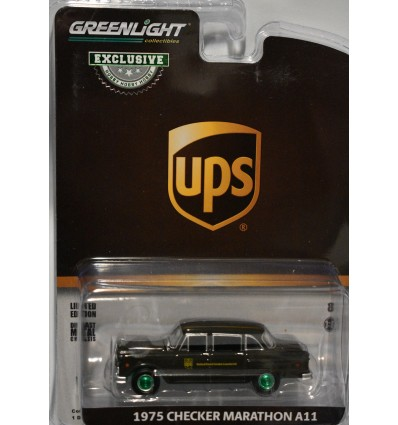 Greenlight Promo - Green Machine Chase Car - 1975 UPS Checker Marathon A11