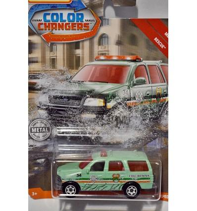 Matchbox - Color Changers - Ford Expedition Fire Rescue Truck