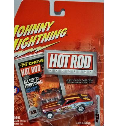 Johnny Lightning - Hot Rod Magazine - 1972 Dodge Charger NHRA Gene Snow Funny Car