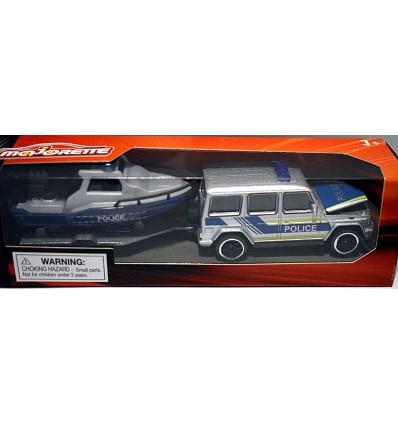 Majorette Trailer Sets - Mercedes-Benz G-63 Police Truck & Police Boat