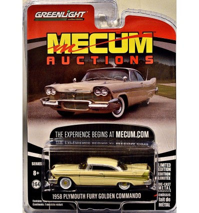 Greenlight Mecum Auction Block - 1958 Plymouth Fury Golden Commando