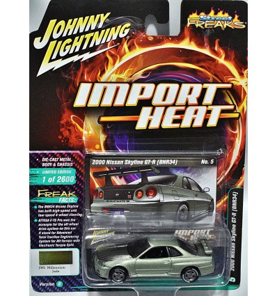Johnny Lightning Import Heat - Nissan Skyline GT-R (BRN34)