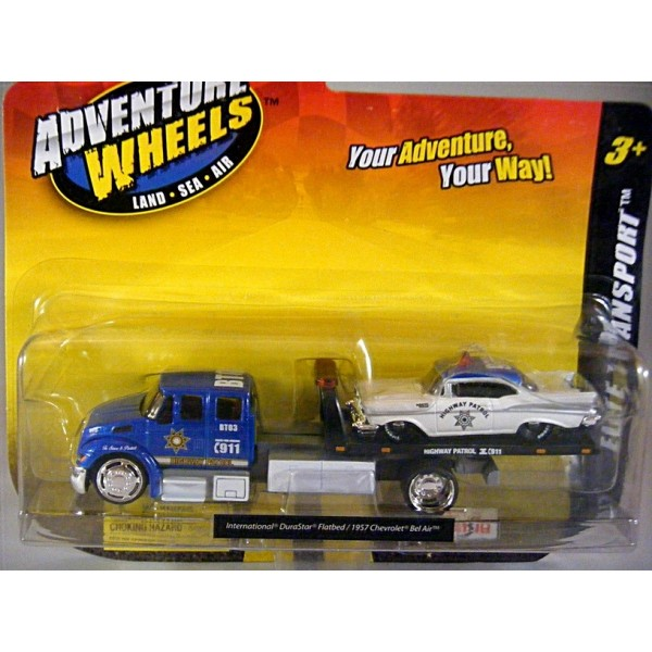 Flatbed Tow Truck >> Maisto Advetnure Wheels - Elite Transport Police Department Flatbed Tow Truck and 57 Chevy ...
