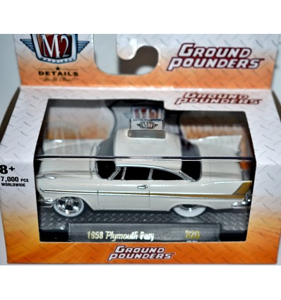 M2 Machines Ground Pounders - 1958 Plymouth Fury