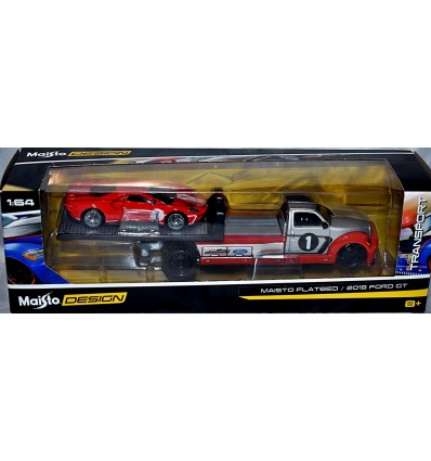 Maisto - Transport - Ford GT & Flatbed Race Transporter