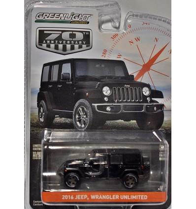 Greenlight Anniversary Series - Jeep 75th Anniversary - Jeep Wrangler Unlimited