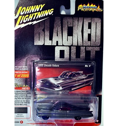 Johnny Lightning Street Freaks - Blacked Out - 1955 Lincoln Futura Concept Car