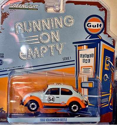 Greenlight - Running on Empty - 1:43 Scale Gulf Racing Volkswagen Beetle