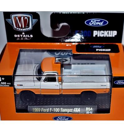 M2 Machines Auto-Thentics - 1969 Ford F-100 Ranger 4x4 Pickup Truck