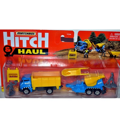 Matchbox Hitch & Haul - Side Dump Sand Truck & Cement Mixer Trailer set