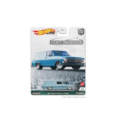 Hot Wheels - Premium - Fast Wagons - 1964 Chevy Nova Panel
