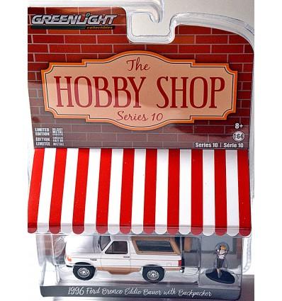 Greenlight Hobby Shop - 1996 Ford Bronco Eddie Bauer w/ Backpacker