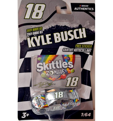 NASCAR Authentics - Joe Gibbs Racing - Kyle Busch Skittle's Zombie Toyota Camry