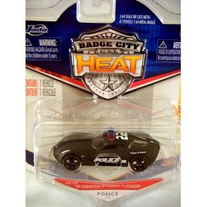 Jada Badge City Heat - Sinster Chevrolet Corvette Stingray Concept Police Car