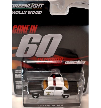 Greenlight Hollywood - Gone in 60 Seconds - 1973 AMC Matador Sheriff Police Car