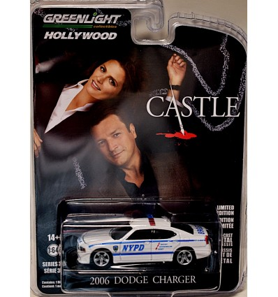 Greenlight Hollywood - Castle - Dodge Charger NYPD Patrol Car