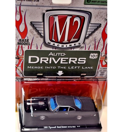 M2 Machines Drivers - 1969 Plymouth Road Runner 440 6-Pack