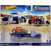 Hot Wheels Car Culture - Team Transport - 1932 Deuce Coupe & SpeedWaze El Segundo Special Hot Rod Flatbed Transporter