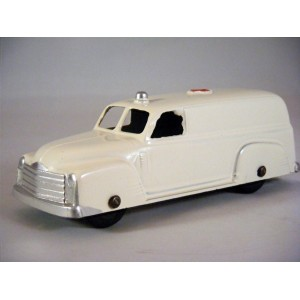 Tootsietoy 1950 Chevy Ambulance with closed rear windows