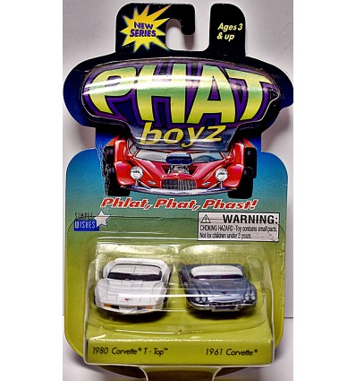Phat boyz - Classic Chevrolet Set - 1980 ChevyCOrvette Coupe and 1961 Chevrolet Corvette Split Window Coupe