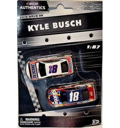 Lionel NASCAR Authentics - HO Scale - Kyle Busch Snickers & Skittles Toyota Camry Set