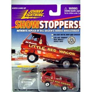 Johnny Lightning Bill Mavericks Little Red Wagon Dodge A 100 NHRA Wheelstander