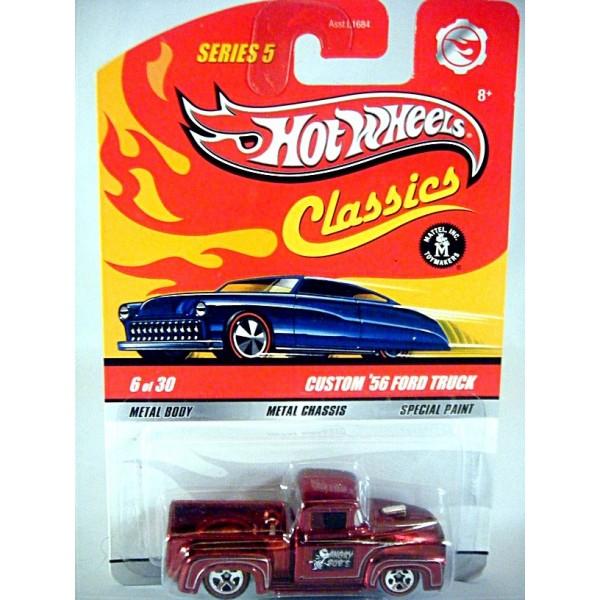 Hot Wheels Classics Custom 1956 Ford F 100 Pickup Truck Global