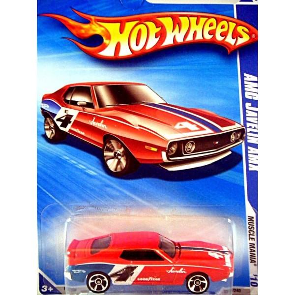 hot wheels amc javelin amx trans am series race car - global diecast