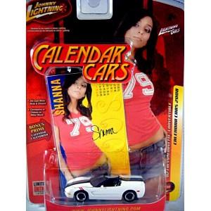 Johnny Lightning Calendar Girls - Chevrolet Corvette C5 Convertible
