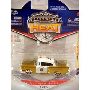 Jada Badge City Heat - 1957 Chevy Bel Air Police Car
