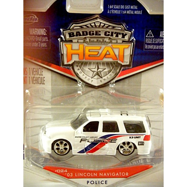 Jada Badge City Heat Lincoln Navigator Police K 9 Truck Global