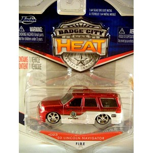 Jada Badge City Heat Lincoln Navigator Fire Truck