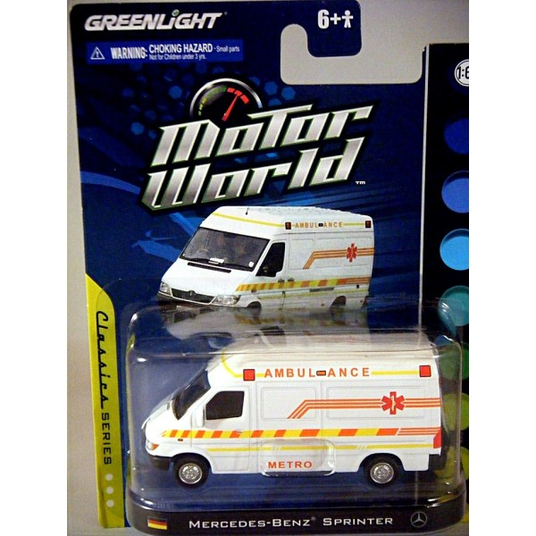 2015 Medix Ford Transit Type Ii Ambulance: Greenlight Motor World Mercedes-Benz Sprinter