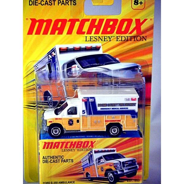 Matchbox Superfast Lesney Edition Ford E Emt Ambulance