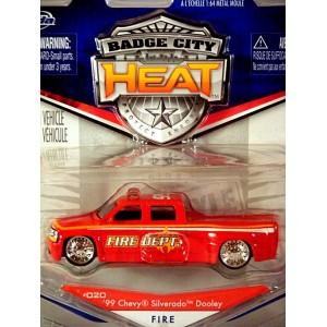 Jada Badge City Series - Chevrolet Silverado Dually Fire Department Truck